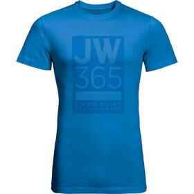 Jack Wolfskin 365 Bluzka z krótkim rękawem Mężczyźni niebieski